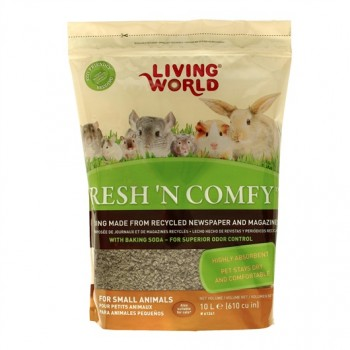 SUSTRATO LIVING WORLD FRESH´N COMFY 10 LITROS PARA PEQUEÑOS ANIMALES