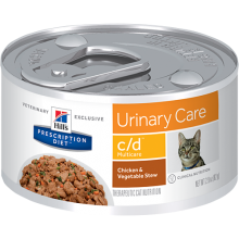 HILLS PRESCRIPTION DIET FELINE C/D MULTICARE LATA 156 GRS