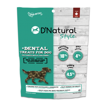 D'NATURAL STYLE DENTAL DOG TREATS 320 GRS
