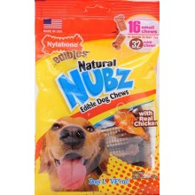 NYLABONE NATURAL NUBZ TWIN SMALL 16 UNIDADES