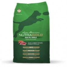 NUTRA GOLD GRAIN FREE DUCK & SWETT POTATO 14 KG