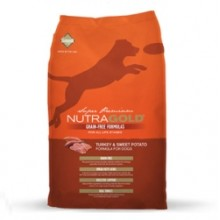 NUTRA GOLD GRAIN FREE TURKEY & SWEET POTATO 14 KG