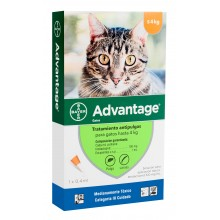 ADVANTAGE PIPETA ANTIPULGAS PARA GATOS HASTA 4 KILOS