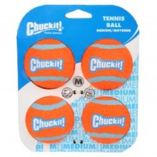 CHUCKIT TENNIS BALL MEDIUM (4 UNIDADES)