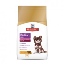 HILLS ADULT SENSITIVE STOMACH & SKIN SMALL &TOY BREED 6.8KG