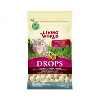 SNACK LIVING WORLD DROPS YOGURTH PARA HAMSTER 75 GRS