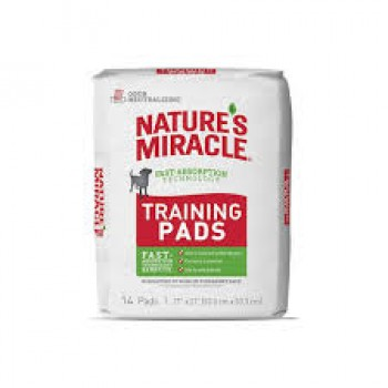 NATURES MIRACLE TRAINING PADS 14 UNIDADES