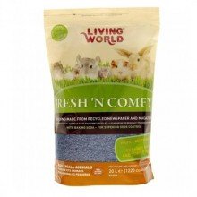 SUSTRATO LIVING WORLD FRESH´N COMFY 20 LITROS PARA PEQUEÑOS ANIMALES